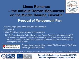 Limes Romanus  – the Antique Roman Monuments  on the Middle Danube, Slovakia