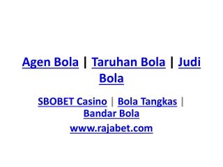 Agen Bola | Taruhan Bola | Judi Bola | SBOBET Casino