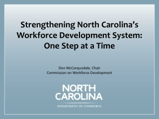 Measuring Performance North Carolina Department of Transportation