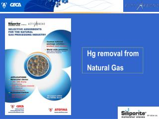 Hg removal from Natural Gas