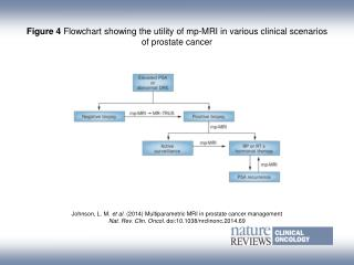 Figure 4  Flowchart showing the utility of mp‑MRI in various clinical scenarios of prostate cancer