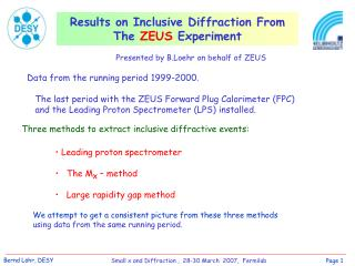 Results on Inclusive Diffraction From The  ZEUS  Experiment