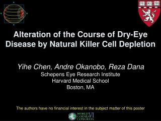 Alteration of the Course of Dry-Eye Disease by Natural Killer Cell Depletion