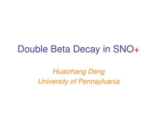 Double Beta Decay in SNO +
