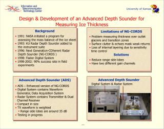 Design & Development of an Advanced Depth Sounder for Measuring Ice Thickness