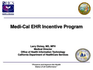 Medi-Cal EHR Incentive Program