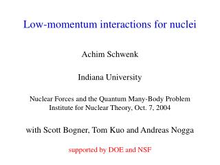 Low-momentum interactions for nuclei
