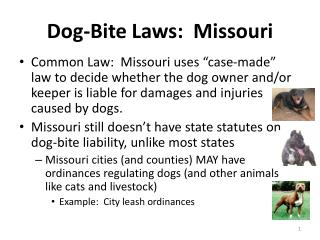 Dog-Bite Laws:  Missouri