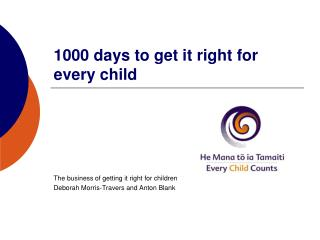 1000 days to get it right for every child