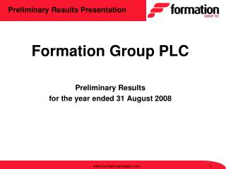 Preliminary Results Presentation