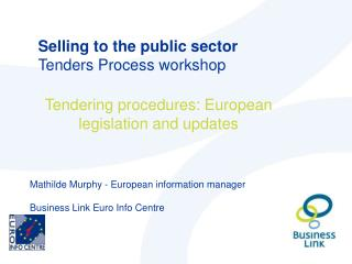 Selling to the public sector Tenders Process workshop