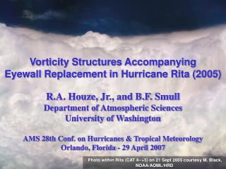 Vorticity Structures Accompanying Eyewall Replacement in Hurricane Rita (2005)