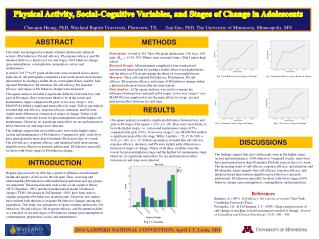 Physical Activity, Social-Cognitive Variables, and Stages of Change in Adolescents