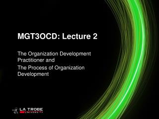 MGT3OCD: Lecture 2