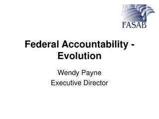Federal Accountability - Evolution