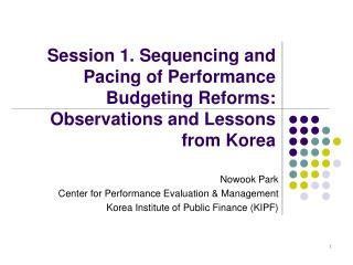 Nowook Park Center for Performance Evaluation & Management