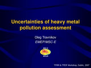 Uncertainties of heavy metal pollution assessment