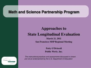 Math and Science Partnership Program