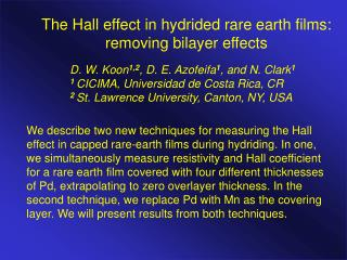 The Hall effect in hydrided rare earth films: removing bilayer effects