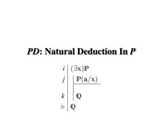 PD : Natural Deduction In  P