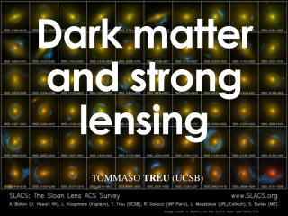 Dark matter and strong lensing