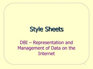 Style Sheets