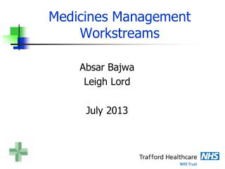 Medicines Management Workstreams