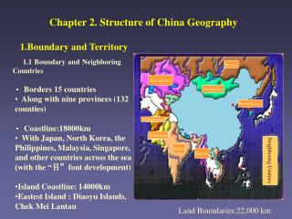 Chapter 2. Structure of China Geography