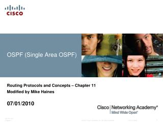 OSPF (Single Area OSPF)
