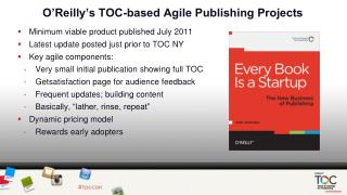 O'Reilly's TOC-based Agile Publishing Projects