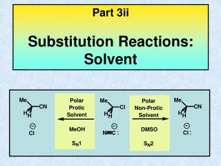 Part 3ii Substitution Reactions: Solvent