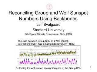 Reconciling Group and Wolf Sunspot Numbers Using Backbones