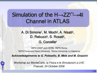 Simulation of the H →ZZ (*) →4l Channel in ATLAS