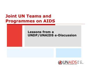 Joint UN Teams and Programmes on AIDS