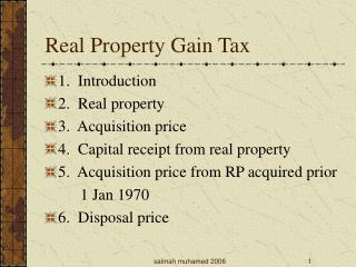 Real Property Gain Tax