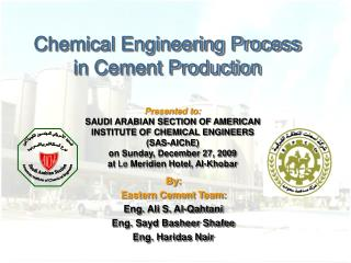 Chemical Engineering Process in Cement Production