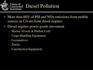 Diesel Pollution