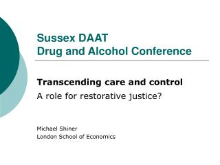 Sussex DAAT  Drug and Alcohol Conference