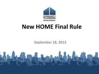 New HOME Final Rule