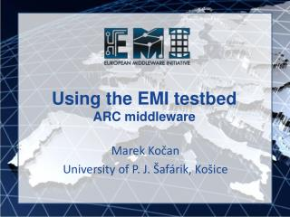 Using the EMI testbed ARC middleware