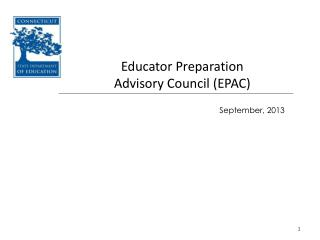 Educator Preparation  Advisory Council (EPAC)
