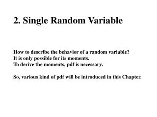 2.1 Concept of a Random Variable