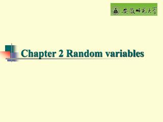 Chapter 2 Random variables