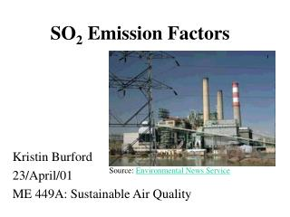 SO 2  Emission Factors
