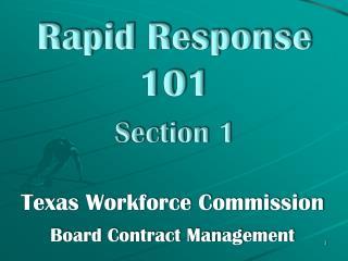 Rapid Response 101