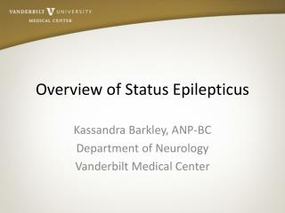Overview of Status Epilepticus