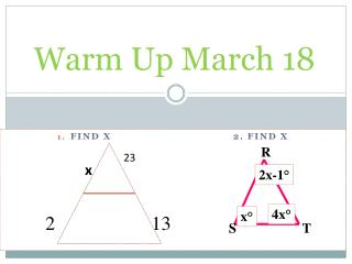 Warm Up March 18