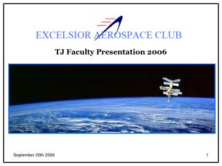 TJ Faculty Presentation 2006