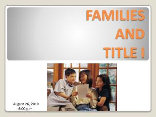 FAMILIES  AND  TITLE I