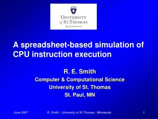 A spreadsheet-based simulation of CPU instruction execution